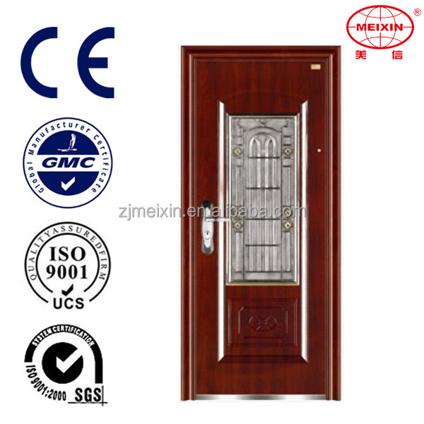 Custom color Security Durable quality Left hand swing steel door