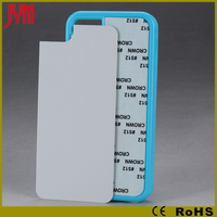 material case tpu+aluminum paster sublimation back cover case for iphone 5c OEM