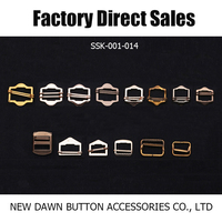 Brass,Zinc Alloy,Iron Decorative buckle slide buckle with pin adjustable buckle for garment bags pants SSK 001-014