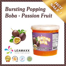 2016 Bubble Tea Supplies Wholesale Passion Fruit Juice Ball Popping Boba