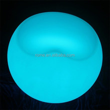 Color change LED plastic beach lounge chairs with romete