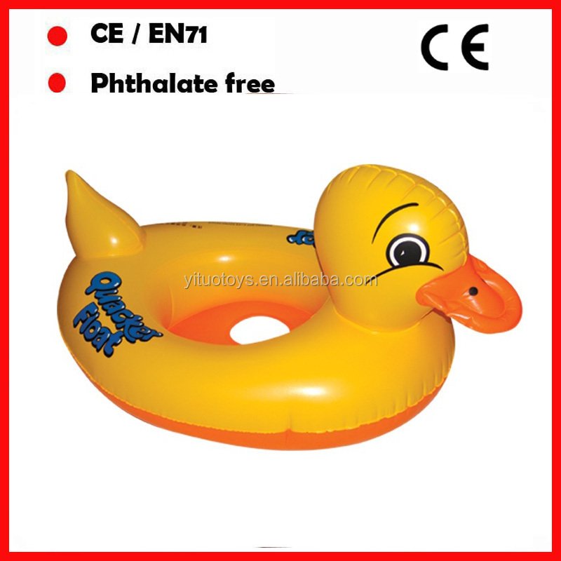 Yellow duck pool floating baby seats /baby swmming rings