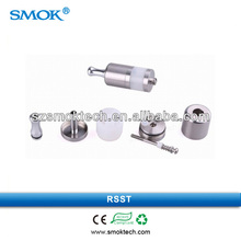 New design e cigarette atomizer Smokteck top selling stainless + PP tube china rebuildable atomizer with airflow controled