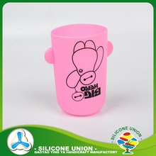 Wholesale silicone coffee cup sleeve with logo/ custom logo coffee mug silicone sleeve with handle