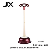 T-shaped handle bigger barrel toilet plunger for dredging closestool
