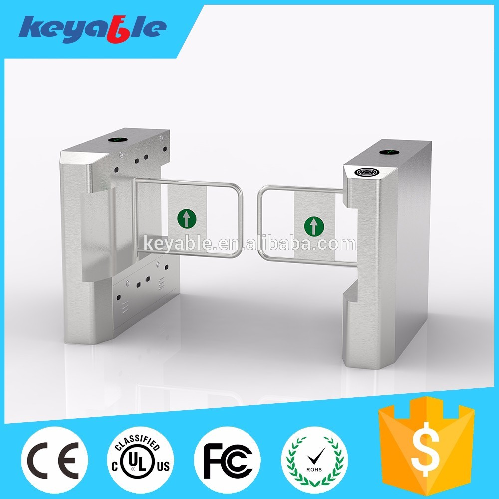 biometric automatic security swing barrier gate for bank