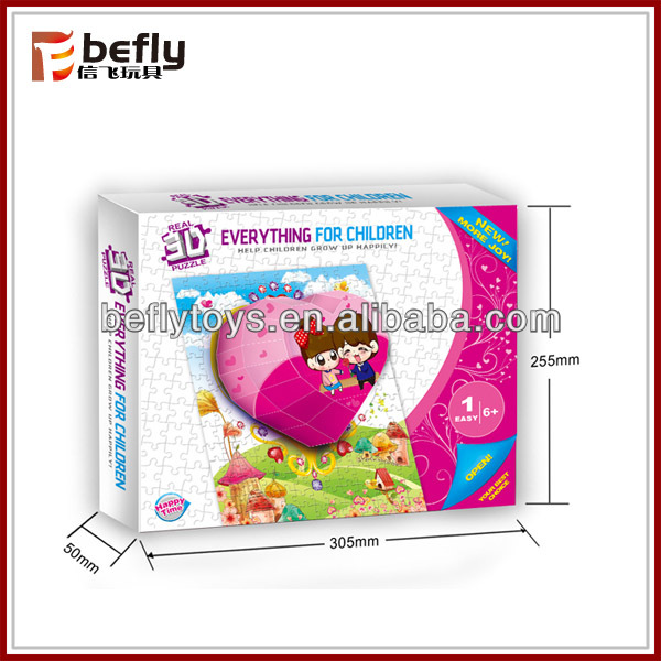 Lovely heart-shaped 3d cartoon jigsaw puzzle for sale