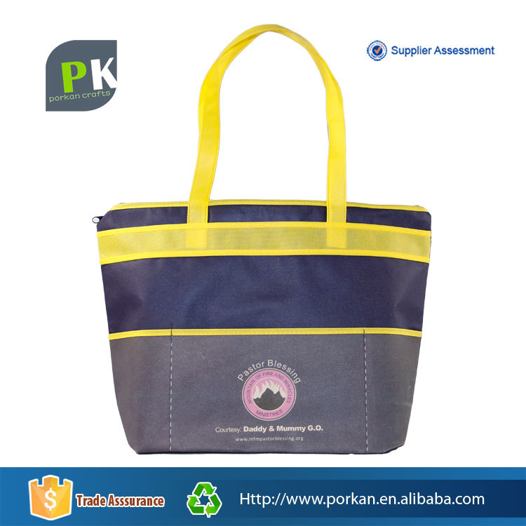 New Cheap Nonwoven Fabric Zipper Tote Bag