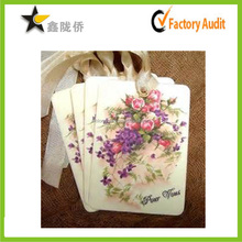 15 years factory price custom paper hanging fragrance car perfume card