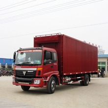 Foton 4x2 light dry van box cargo truck