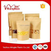 packaging paper pouch window zipper / zip paper bag food