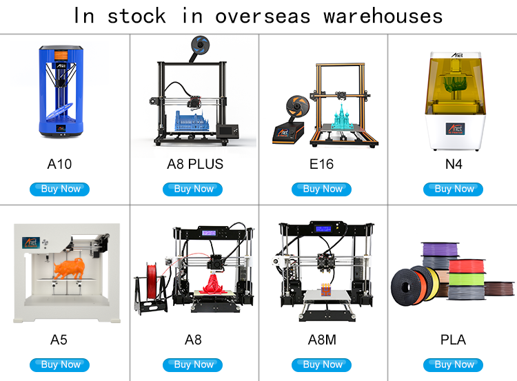 Anet A8Plus diy 3d printer kit fabrikant fdm hoge precisie 3d printer machine