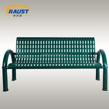 Clean design outdoor steel garden bench