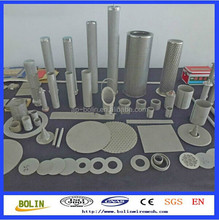 SS monel inconel sinteed metal filter mesh cylinder
