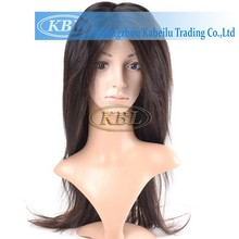 Good elastic no smell indian human hair wig synthetic kinky curly lace front wig