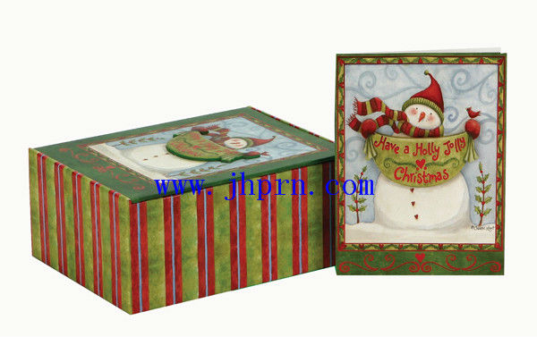 christmas cards and boxed set for gift packing