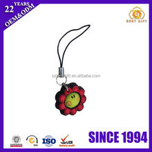 Polymer Clay Charms Sunflower PVC Rubber Cell Phone Strap
