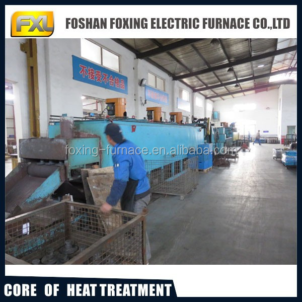 continuous mesh belt furnace used for quenching and tempering heat treatment