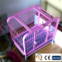 Dog stainless steel cage pet cage crate kennel