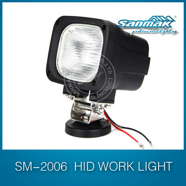 Popular 35W/55W HID Work Light off road 4x4,4WD truck SUV mining vehicles,forestry machinery flood light 12V and 24V SM2006