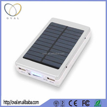 solar power bank 10000mAh 11000mAh 13000mAh 30W SMT LED solar battery bank solar charger with 5 lithium Battery inside