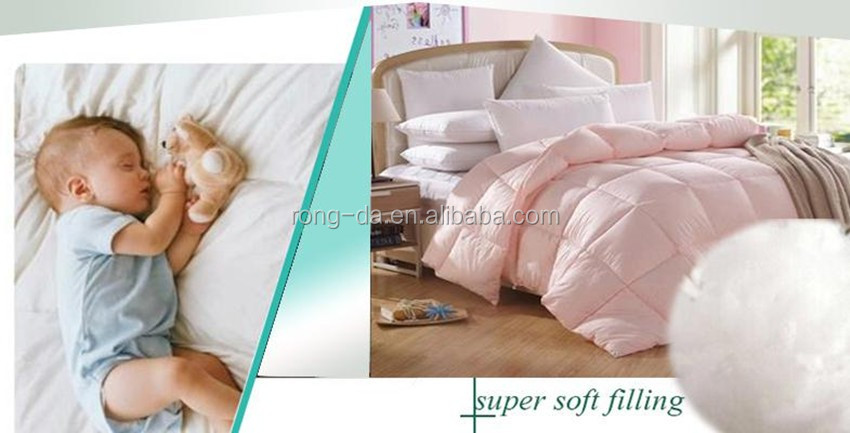 microfiber filling light pink comforters and quilts