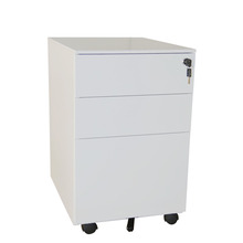 Knock Down Office Filing 3 Drawers Central Lock Steel Mobile Pedestal
