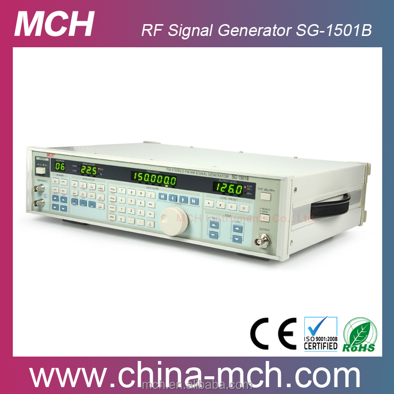7 digit LED Frequency Display 150MHz Digital RF Signal Generator SG-1501B with programmable up to 110MHz FM Stereo