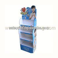 POS store retail cardboard soft drink rack display