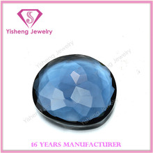 Fake dark blue jade glass diamond