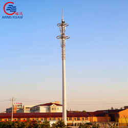 hot dip galvanized telecommunication pole antenna wifi tower