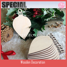 Wooden Christmas Holly Leaf Christmas Ornament Wooden Shapes, Gift Tags, Craft Blanks Shapes Hanging Decorations