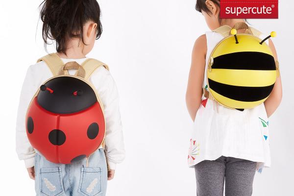 SUPERCUTE 2017 Child bumble bee child school bag kids school bag backpack bag/children backpack