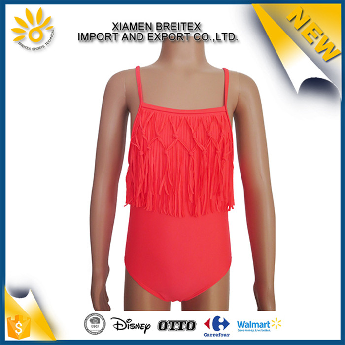 2017 OEM hot sale fashion tassels little girls sexy swimsuit