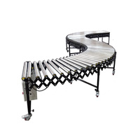 Stainless steel motorized flexible roller conveyor