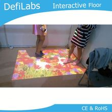 Free shipping Magic floor system/interactive floor/interactive projection for kid game, exhibition, entainment,Seminars
