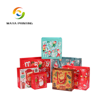 Custom Exquisite christmas ornaments packaging paper bag