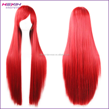 80cm Attractive Women Long Red Highlights Synthetic Wigs