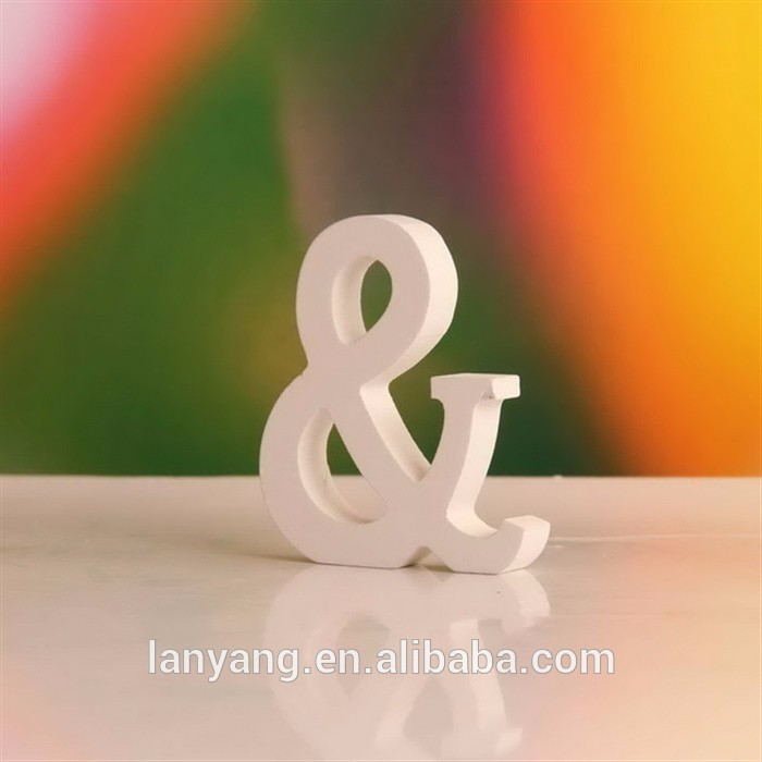 White 8cm Wooden Letters Alphabet DIY Names Words Party Home Wall Decorations Wholesale