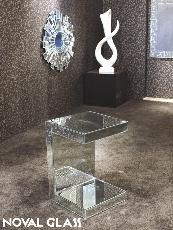 Fancy Art Deco Mirrored Furniture