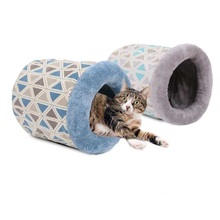 Unique design hot sale soft and warm fine pet products cat cave bed
