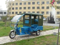 800W / 60V new type electric tricycle both cargo and passenger auto rickshaw