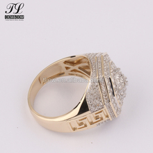9kt 10kt 14kt 18kt mens hip hop rings dropshipping+iced out jewelry aaa cz