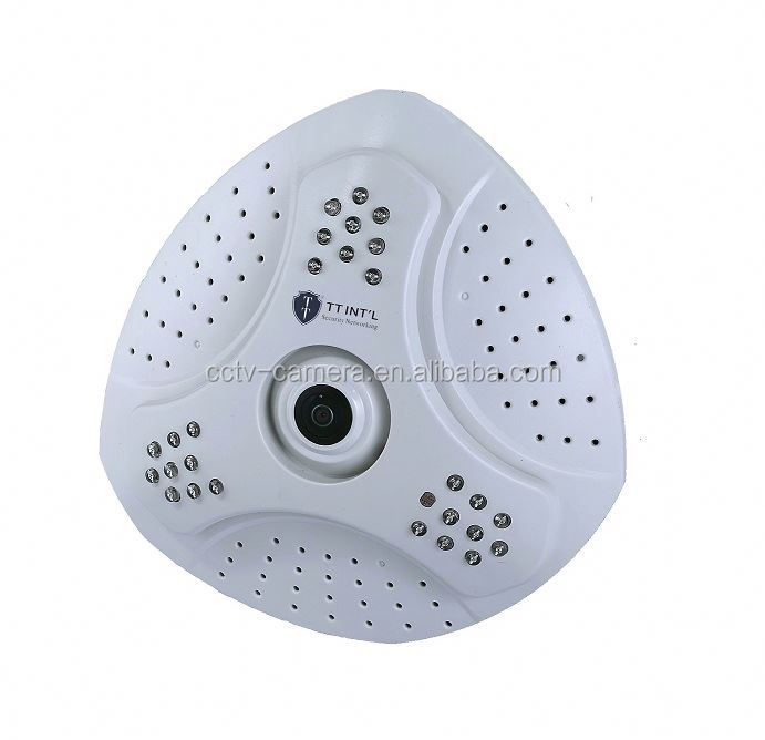 1.3 Megapixels digital Infrared night vision 360 Degree Panorama ip camera for home