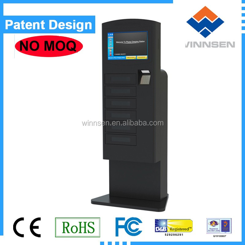 3G/Wifi support public mobile phone charging kiosk/ Smartphone Charging Station APC-06B