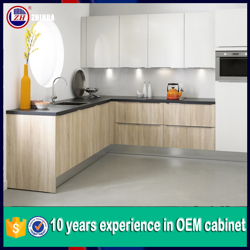 Cheap kitchen cabinet door lacquer and melamine mixed for Cheap kitchen cabinet doors