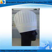 Vegetable Fibre Disposable Black / white Chef Hat for Hotel Supplies