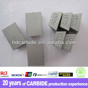 SS10 tungsten stone cemented carbide cutting brazed tips