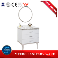 Modern Style Economic stainless bathroom cabinet, modern bathroom vanity for apartment