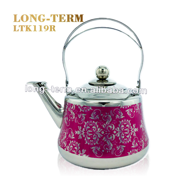 LTK139B Nice Looking Stainless Steel Tea Kettle with iron handle